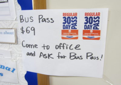 バスパスも売っています