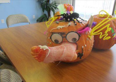 生徒さんがハロウィンパーティで作ったかぼちゃ