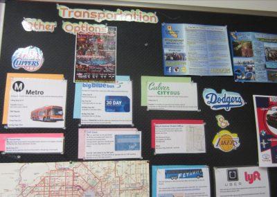 学校周辺の交通手段についての掲示板